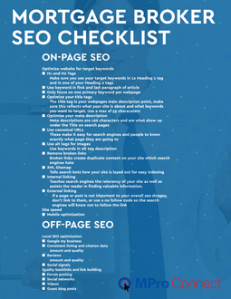 Mortgage Broker SEO Checklist